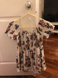 Large white floral top