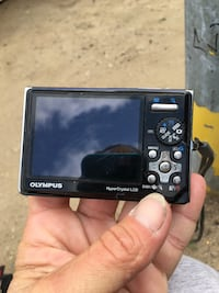 black Olympus point-and-shoot camera