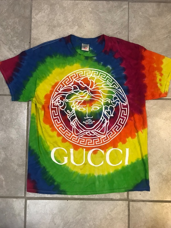 aac6956b32b Used Pizza slime gucci louis chanel tie-dye shirt for sale in ...