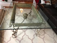"""Beautiful metal coffee table with 1/2"""" glass top Red Bank, 07701"""