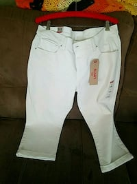white and black Hollister pants
