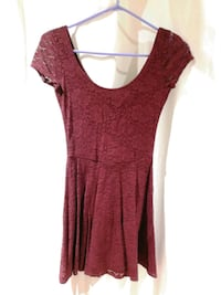 women's red scoop-neck dress Toronto, M1T 3H3