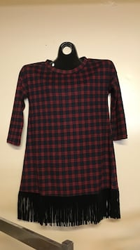 red and black checked crew neck dress Colt, 72326