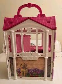 Barbie Pink Doll House Good Condition