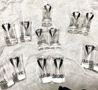 Custom groom shot glasses Brampton