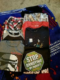 Assorted boys t-shirts size large  Abbotsford, V2S 1K8
