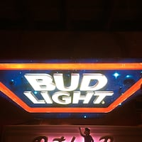 black and red Bud Light neon signage Milford, 51351