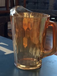Very Nice Large LEMONDE Amber Glass Pitcher