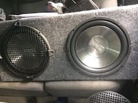 Two 12 inch subwoofers with amp Clarkstown, 10920