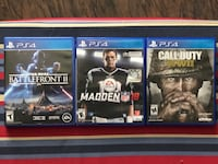 PS4 games for sale - Battlefront II / Madden 18 / COD WWII Palm Bay