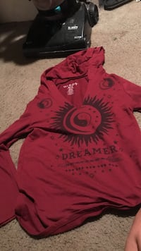 red and black Dreamer pullover hoodie Durham, 97224