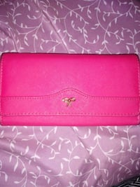 pink leather bi-fold wallet (17 compartments) Mobile, 36608