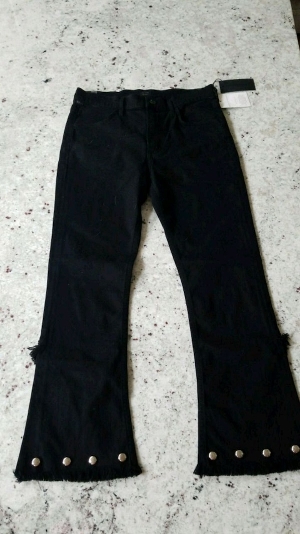 CoH High Rise Crop Flare Studded Soiree Size 28 6800befd-89a2-421e-afec-94168851f0d9