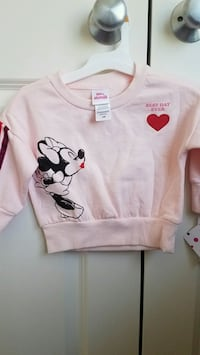 New with tags girls clothes Minnie mouse sweatshirt size 12M Rockville