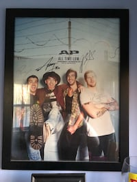 Signed All Time Low poster! Comes with nice black frame