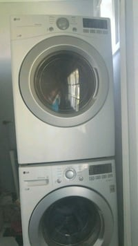 white front-load washer and dryer 264 km
