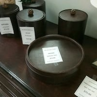 Brown service trays and ice buckets $10 each Oakville, L6L 5N1