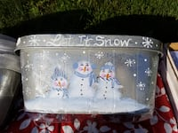Painted Snowman container Brampton