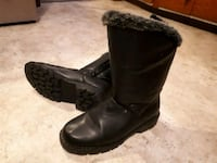 pair of black leather boots Lower Sackville, B4E 1H7