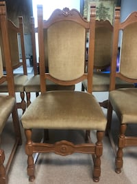 6 antique high back chairs. Newmarket, L3X 1T2
