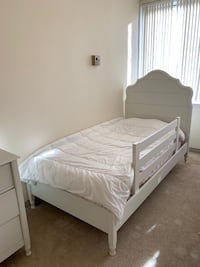white bed frame with white mattress Springfield, 22153