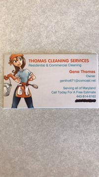 Thomas Cleaning Services Residential & Commercial Free Estimates: reliable,Dependable: Great rates: call Today  [TL_HIDDEN]  Baltimore, 21222