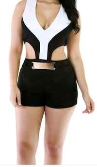 women's black crop one piece Norfolk, 23502