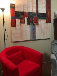 Red Chair & Painting  Mississauga, L5N 3K5