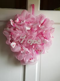 Heart shaped breast cancer wreath! Rockford