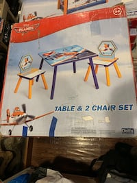Disney kids table with two chairs set