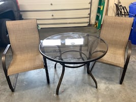 New with Tags - Mainstays Outdoor Patio Table & (2) Chairs - $75