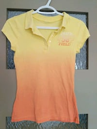 Women's polo shirt yellow/orange size small