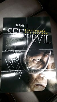 See no Evil Small poster Signed by Kane Brampton, L6S 2H5