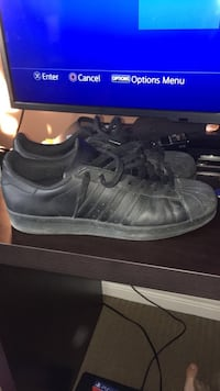 pair of black Adidas Superstar Courtice, L1E 3C8