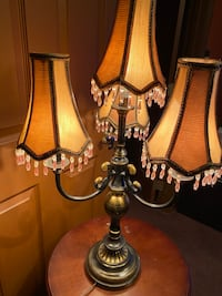 3 Piece Vintage Victorian Brass Candlebra lamps. Edgewood, 21040