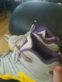 pair of white-and-purple Air Jordan shoes Tacoma, 98418