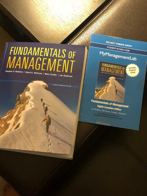 Brand new FUNDAMENTALS OF MANAGEMENT text book with UNUSED ACCESS CODE