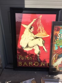 Large art work.   Poster size.   Pasta picture.   Palmdale, 93551