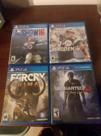 four Sony PS4 game cases Martinsburg, 25404