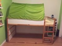green and white wooden bunk bed San Diego, 92114