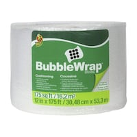 Duck Brand Bubble Wrap Original Cushioning, 12-Inches x 175-Feet Vancouver