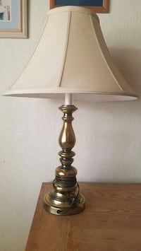 """28"""" vintage table lamp w/linen shade  Henderson, 89014"""