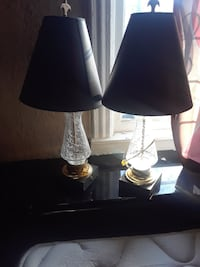 two black base table lamps with black lampshades Kansas City, 66101