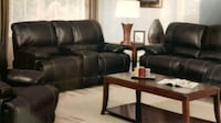 two brown leather padded armchairs Surrey, V3W 4M9