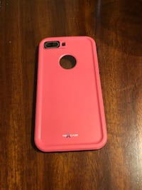 Pink and black iPhone 8+ otter box case (negotiable)  San Antonio, 78229
