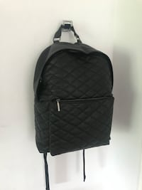 Black Stitched Faux Leather Backpack  Toronto, M4B 1K7