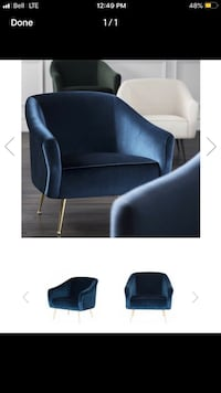 Sapphire blue occasional chairs Toronto, M8Z 6A4