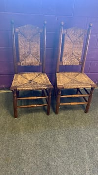 Antique Style Woven Chairs (Set of 2) Gaithersburg