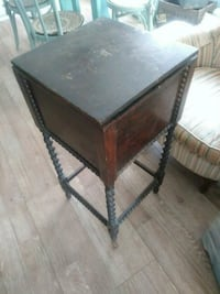 Antique wood sewing cabinet end table nightstand Largo, 33771