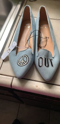 Light Blue Denim flats Jonesboro, 30238